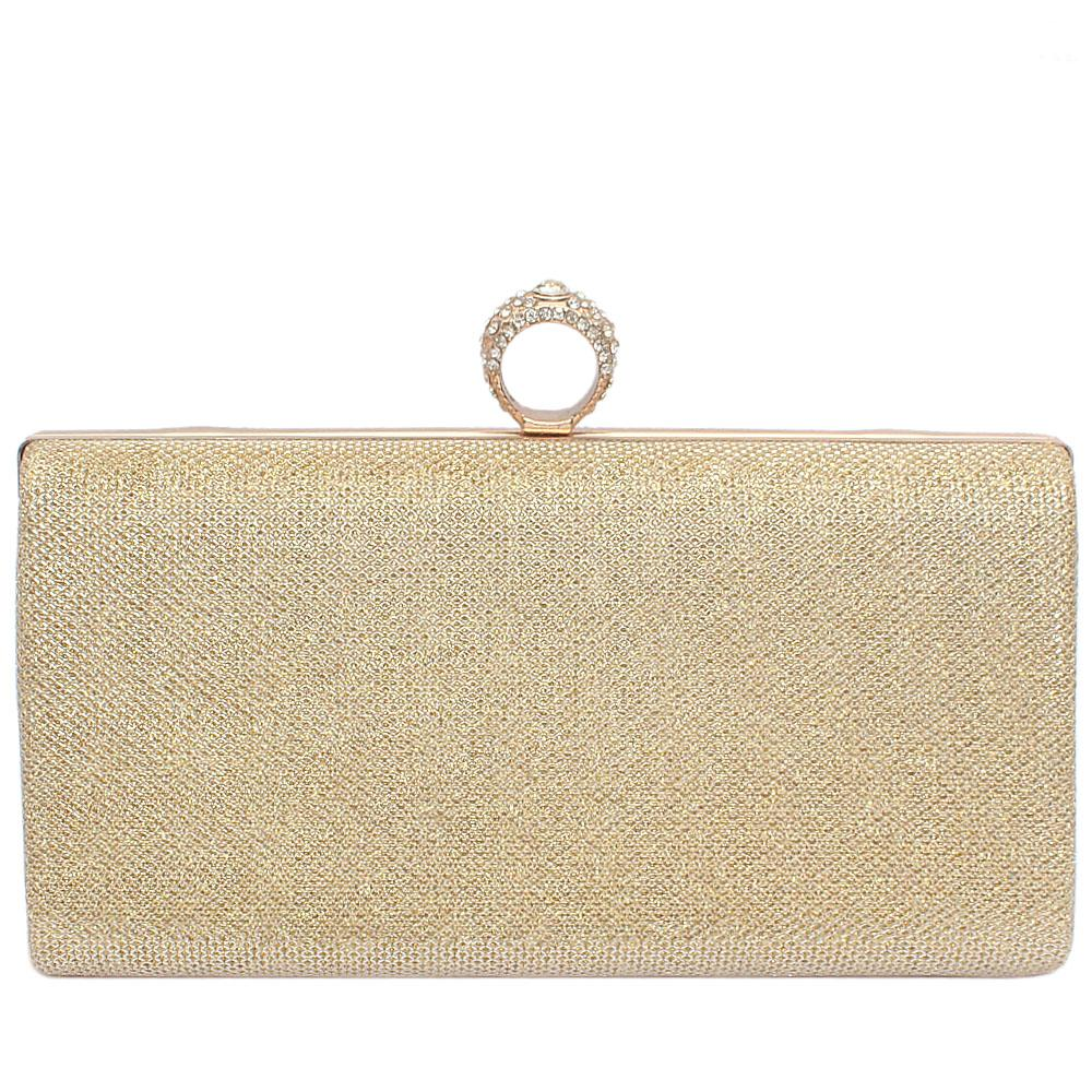 Large Gold Gilter Clutch Purse
