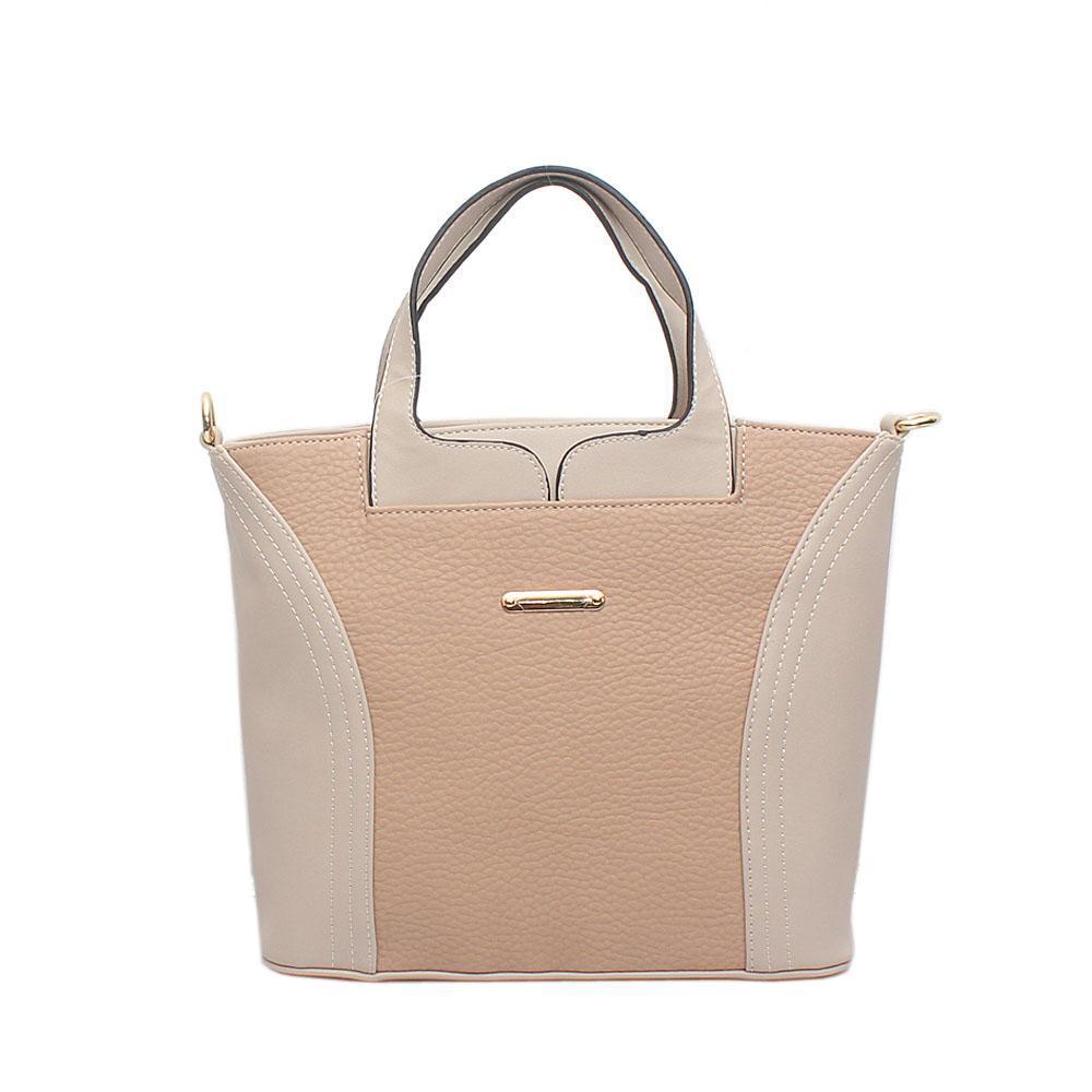 London Style Beige Cream Leather Handbag