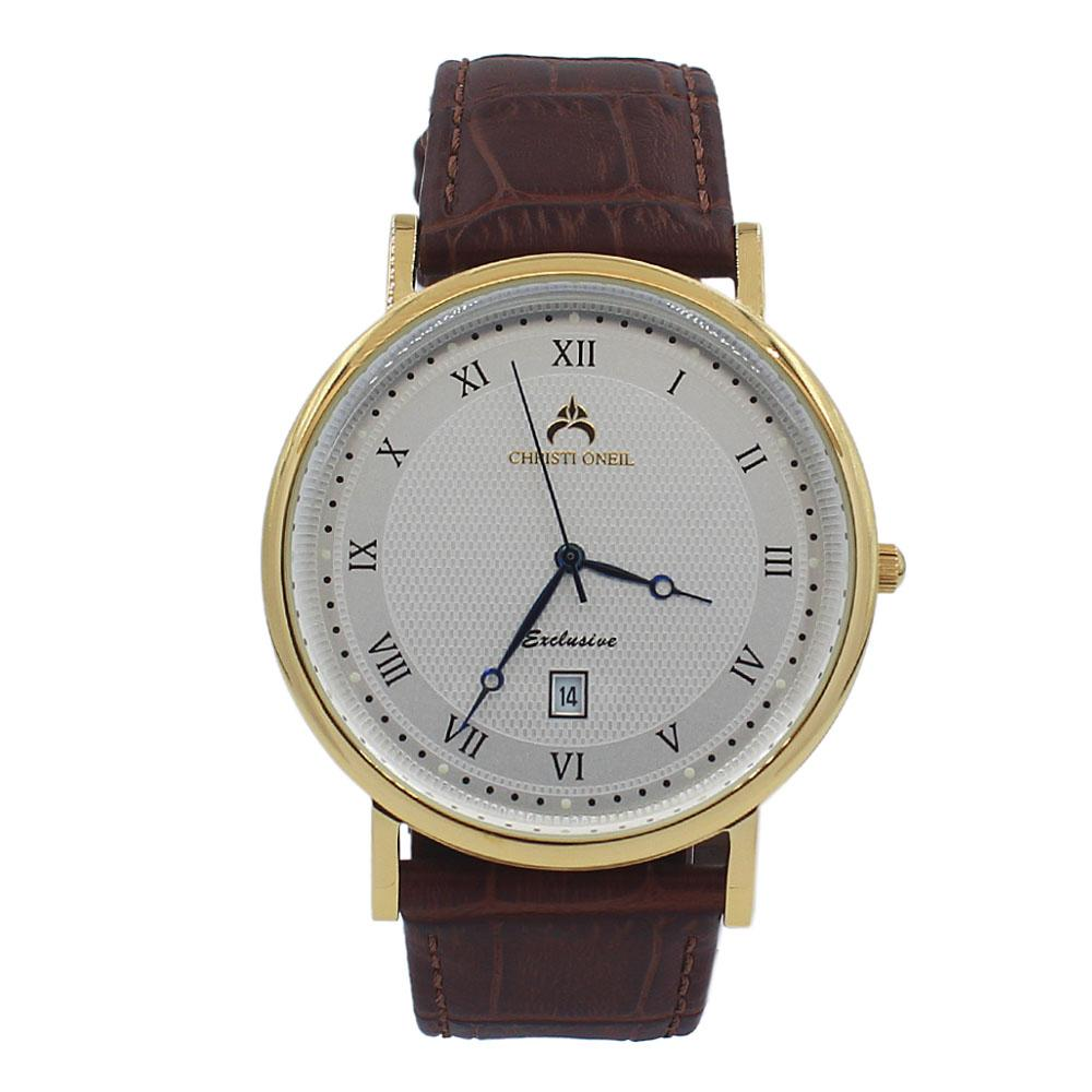 Brown Exclusive Leather Flat Watch
