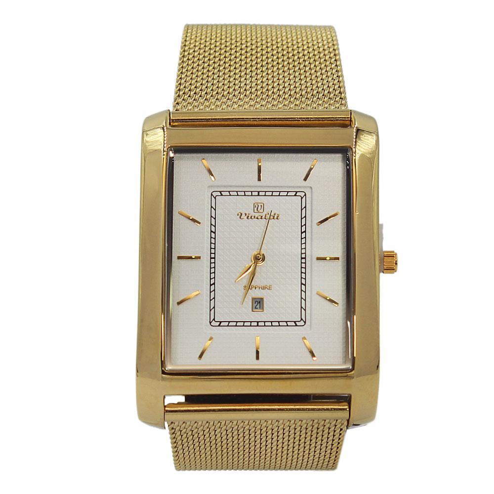 Gold-Alexis-Mesh-Watch