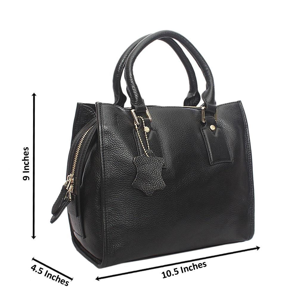 Classy Black London Styled Tuscany Leather Handbag