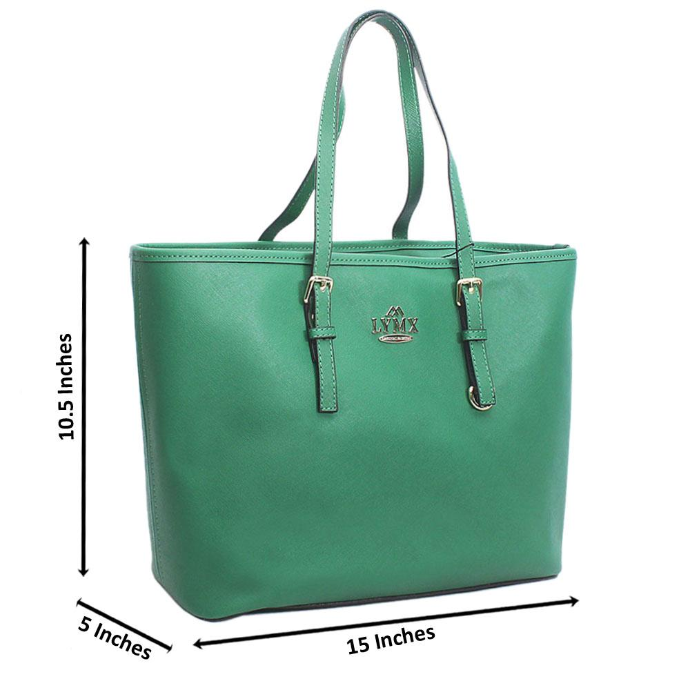 Green Median Jet Set Item Shoulder Handbag