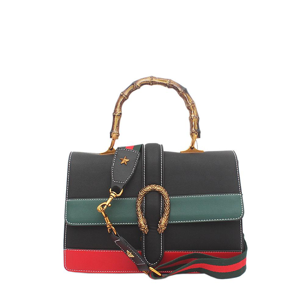 Black Green Red Leather Dionysus Bag