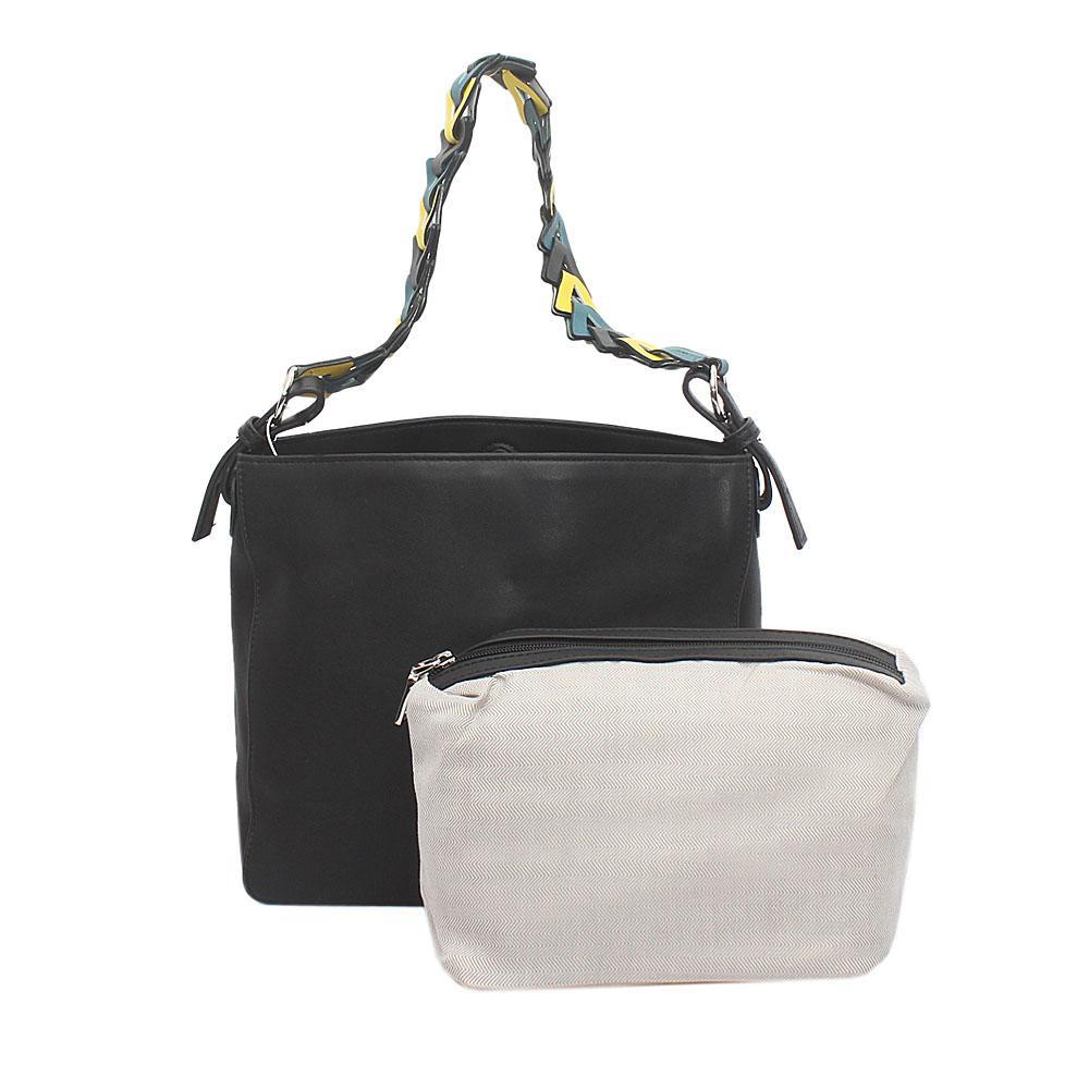 Sunshine Black Leather Bag