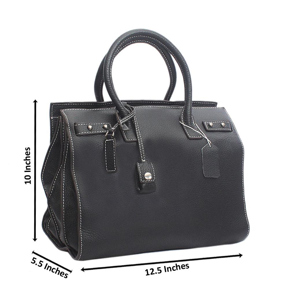 Classic Sac De Jour Black Montana Leather Handbag