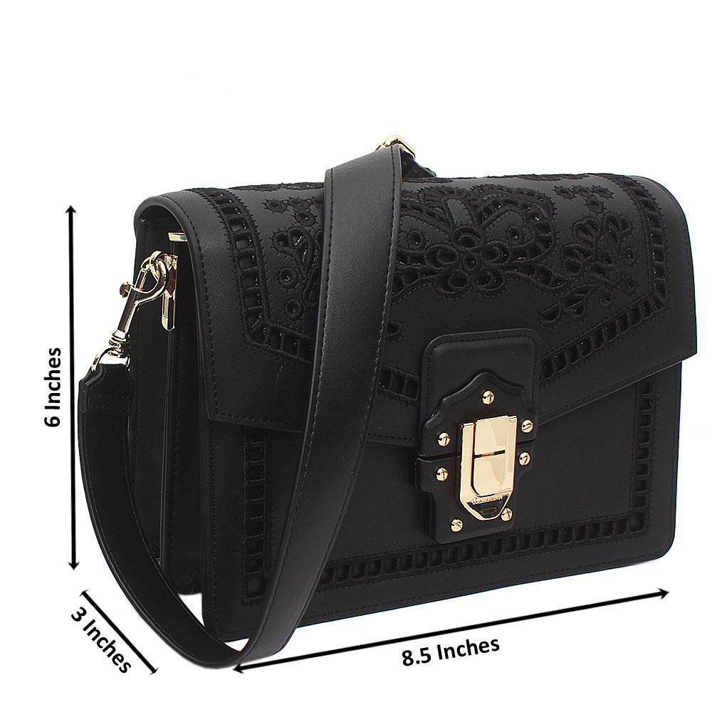 Black Montana-Leather Crossbody Bag