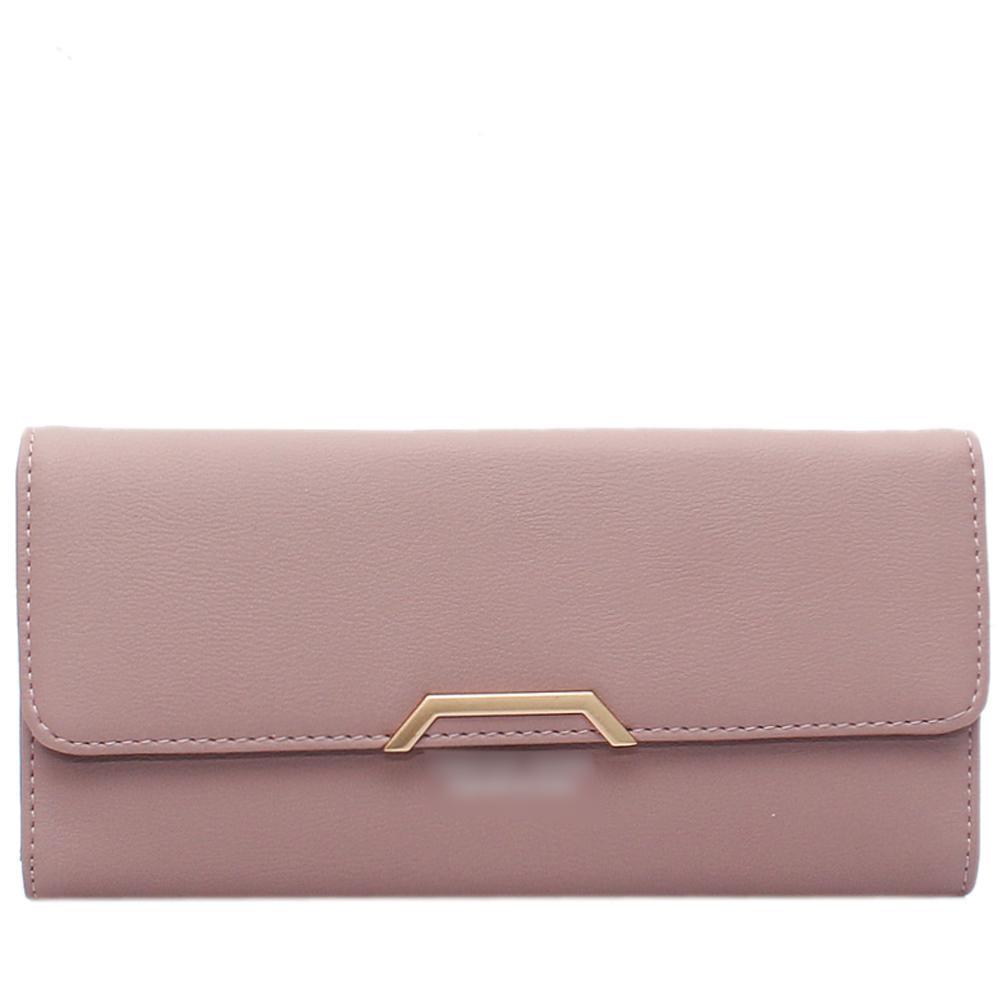 Pink Leather Ladies Wallet