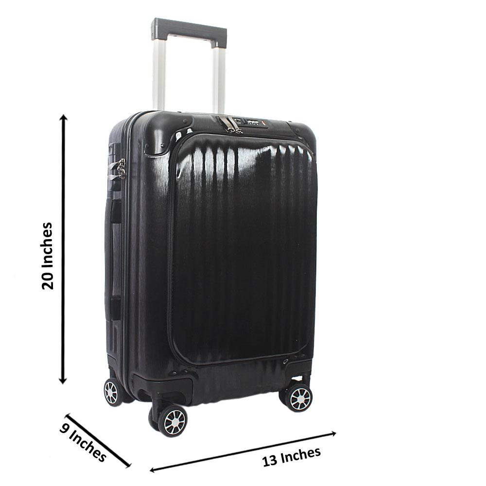 Black 20 Inch Hardshell Carry On Luggage Wt TSA Lock