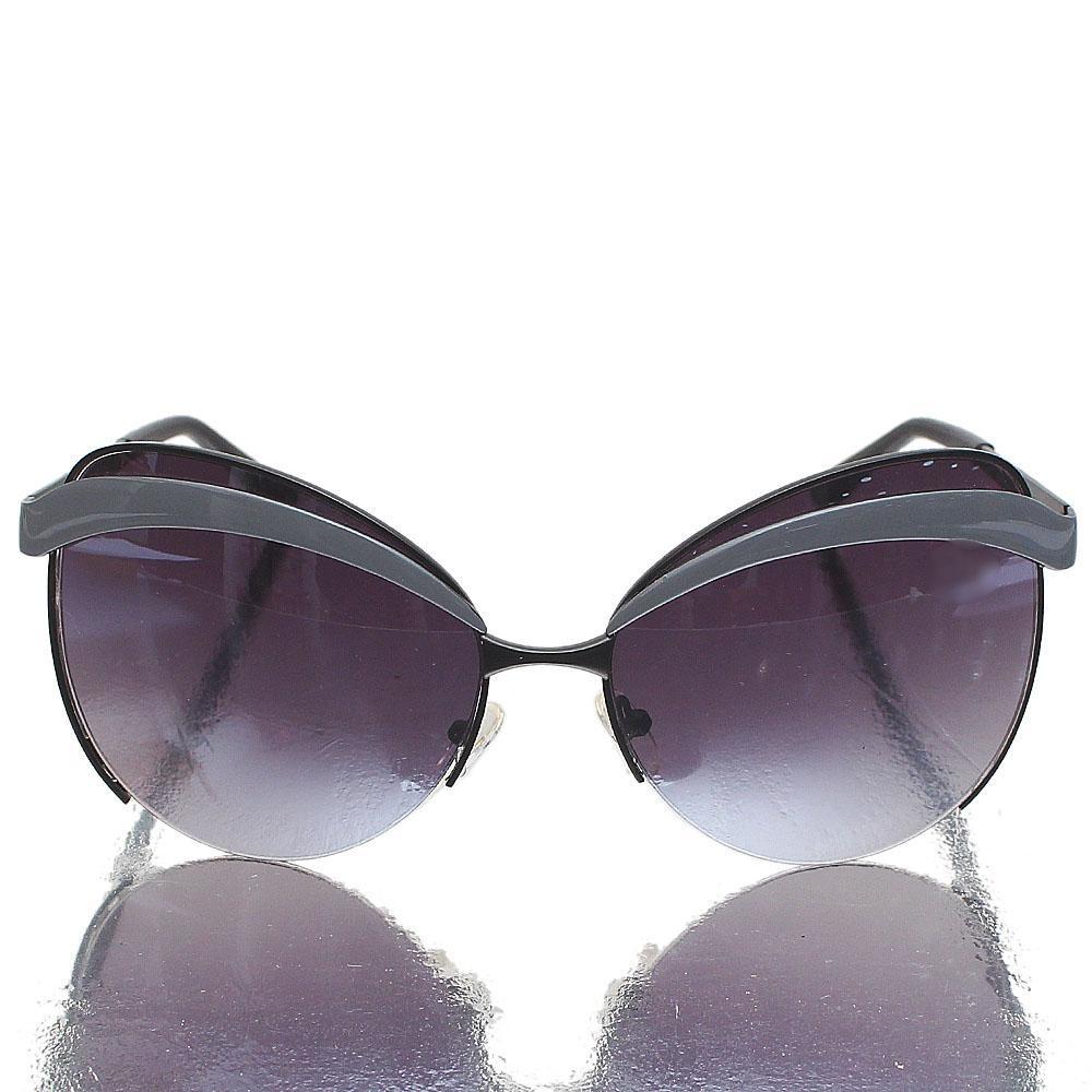Gray Black Butterfly Dark Lens Sunglasses