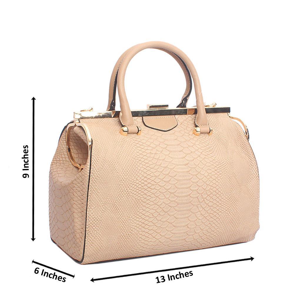 Khaki Daisy Croc Tandy Leather Handbag