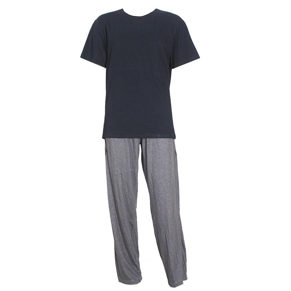 M & S Navy/Gray Cotton Men Pyjamas