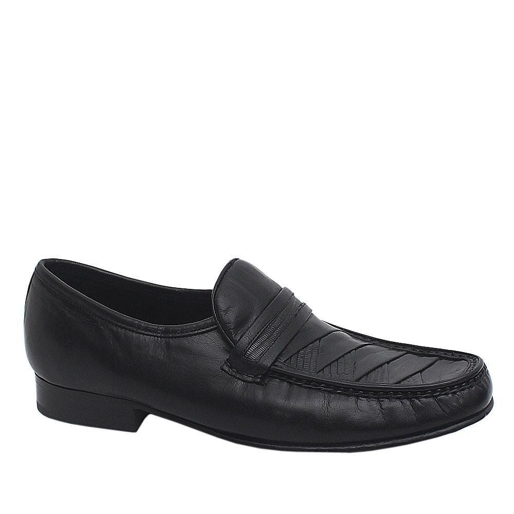 Collezione Black Leather Men Shoe