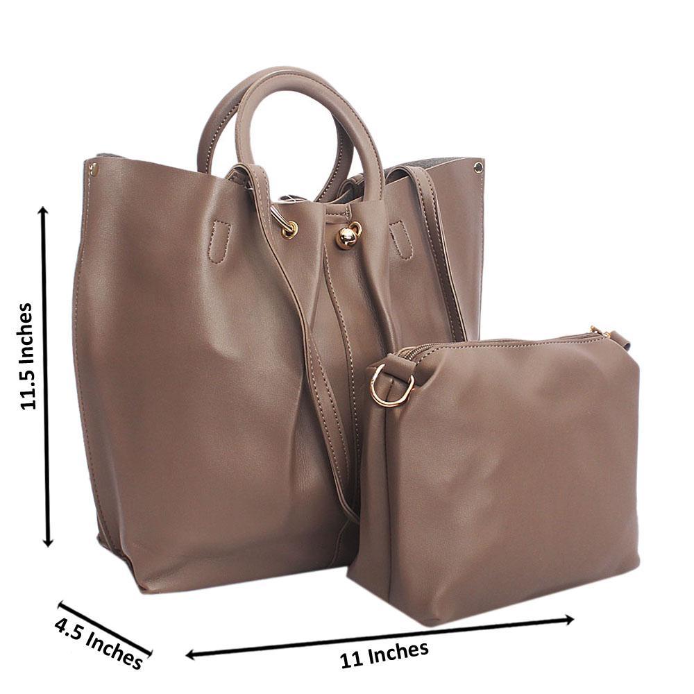 Khaki Flat Ball Handle Tandy Leather Handbag