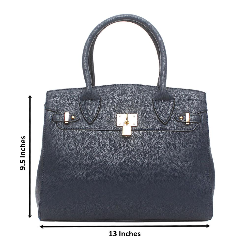 Avatar Navy Leather Tote Bag