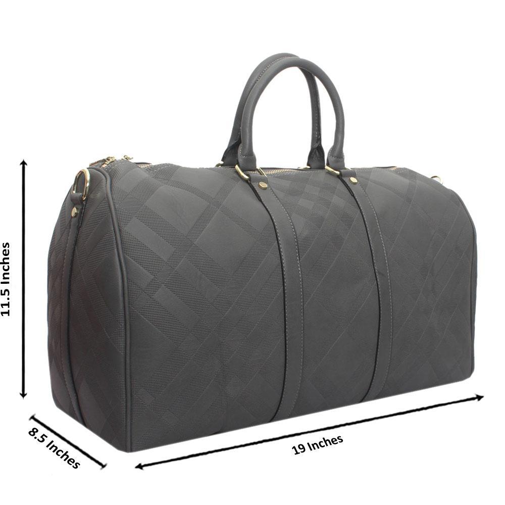 Grey Leather Large Haymarket Bowling Bag