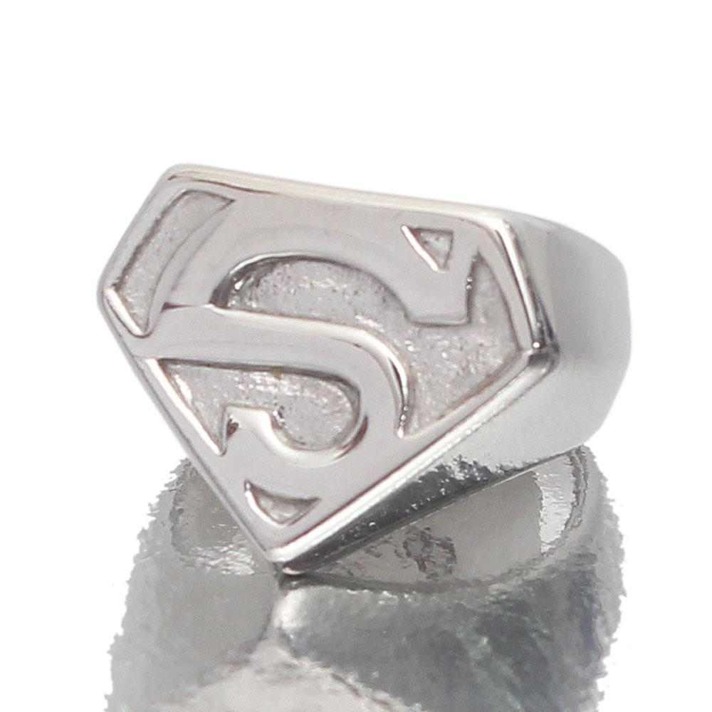 Superman Silver Stainless Steel Ring