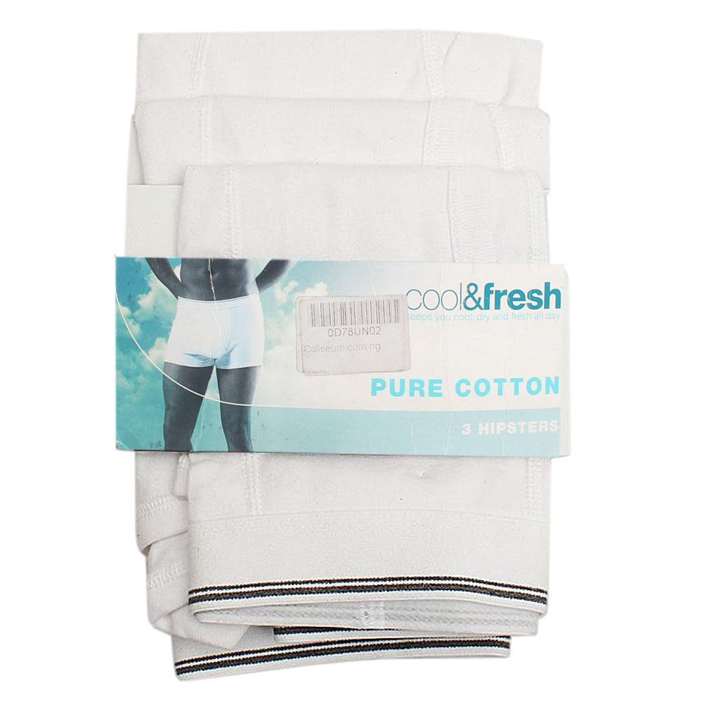 ≈ S 3 Set White Cotton Stretch en's Hipster