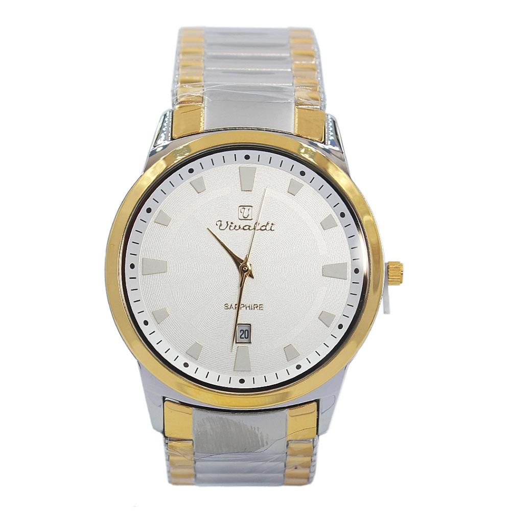 Silver Gold Karstan Stainless Steel Fashion Watch