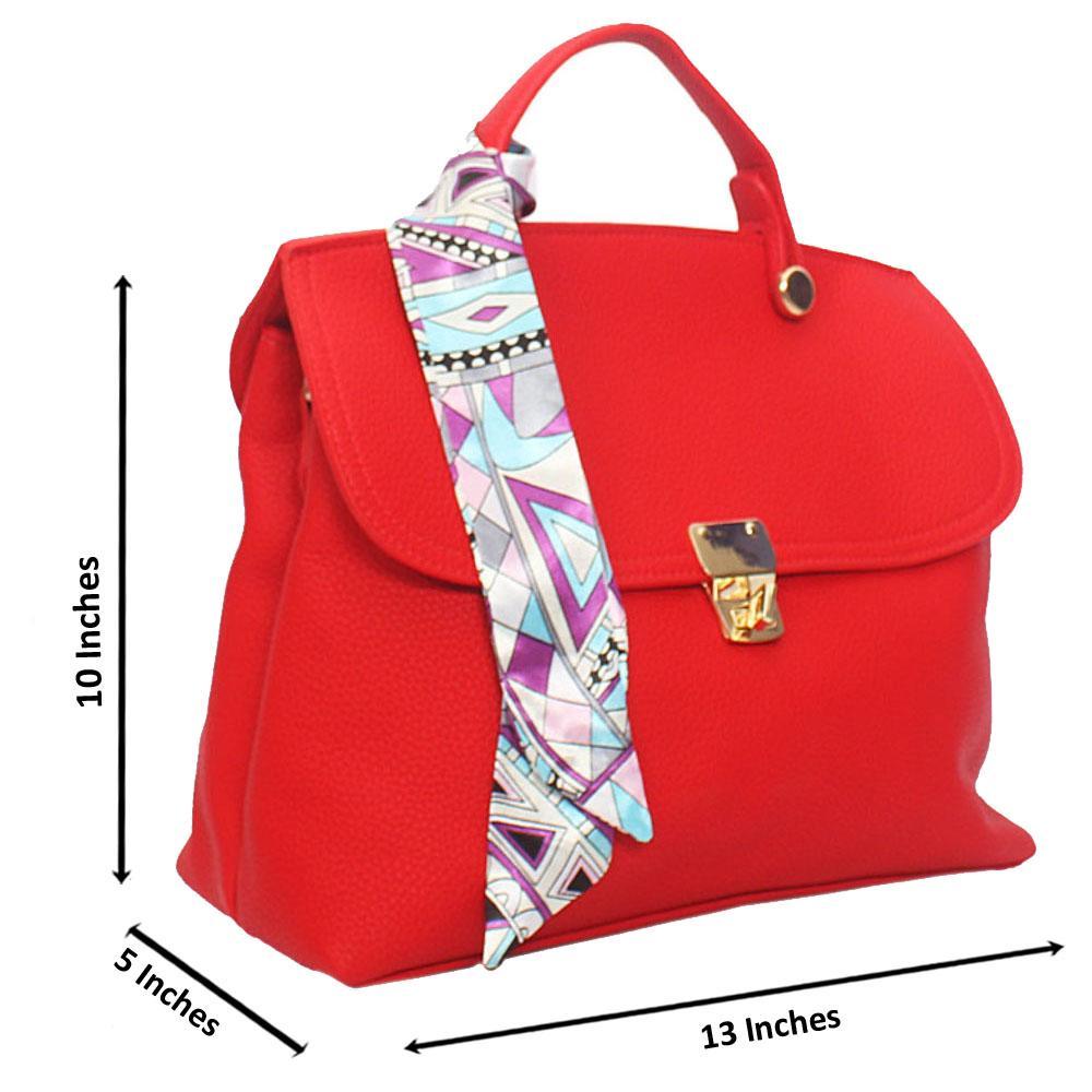 Red Jolie  Leather Top Handle Handbag