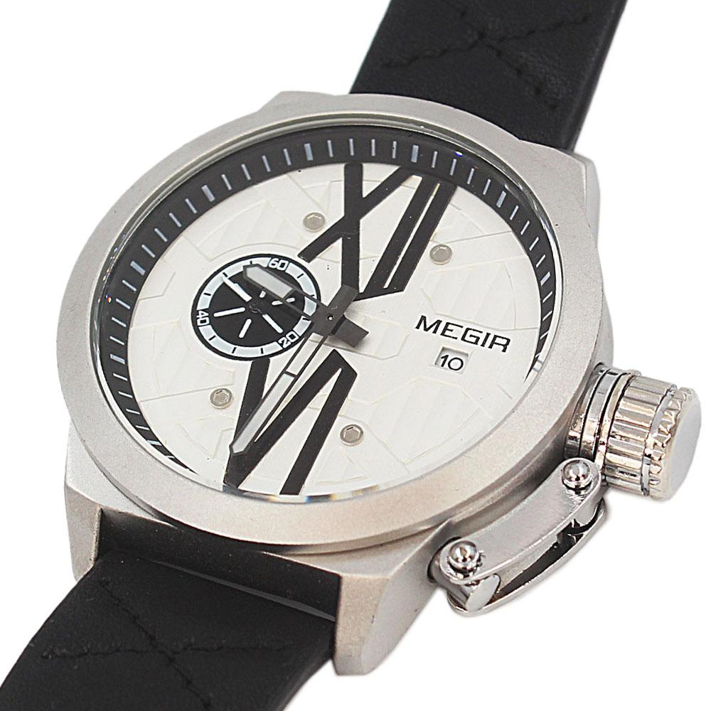 MG Xchange Silver Black Leather Watch