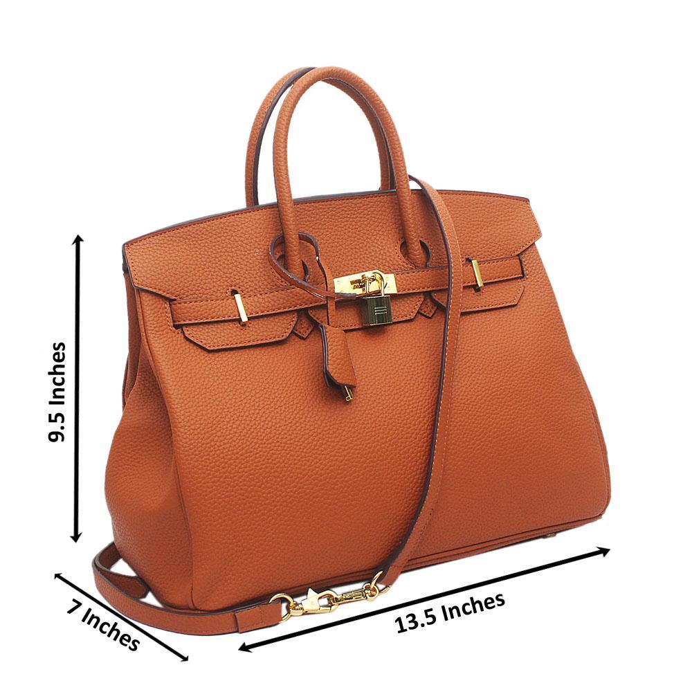 Brown Leather Mate Birkin Bag