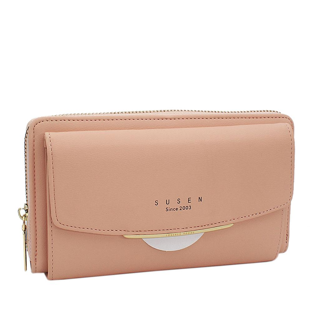 Susen-Peach-Panamera-Leather-Ladies-Wallet