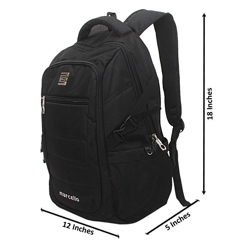 Black Fabric Marcello Backpack