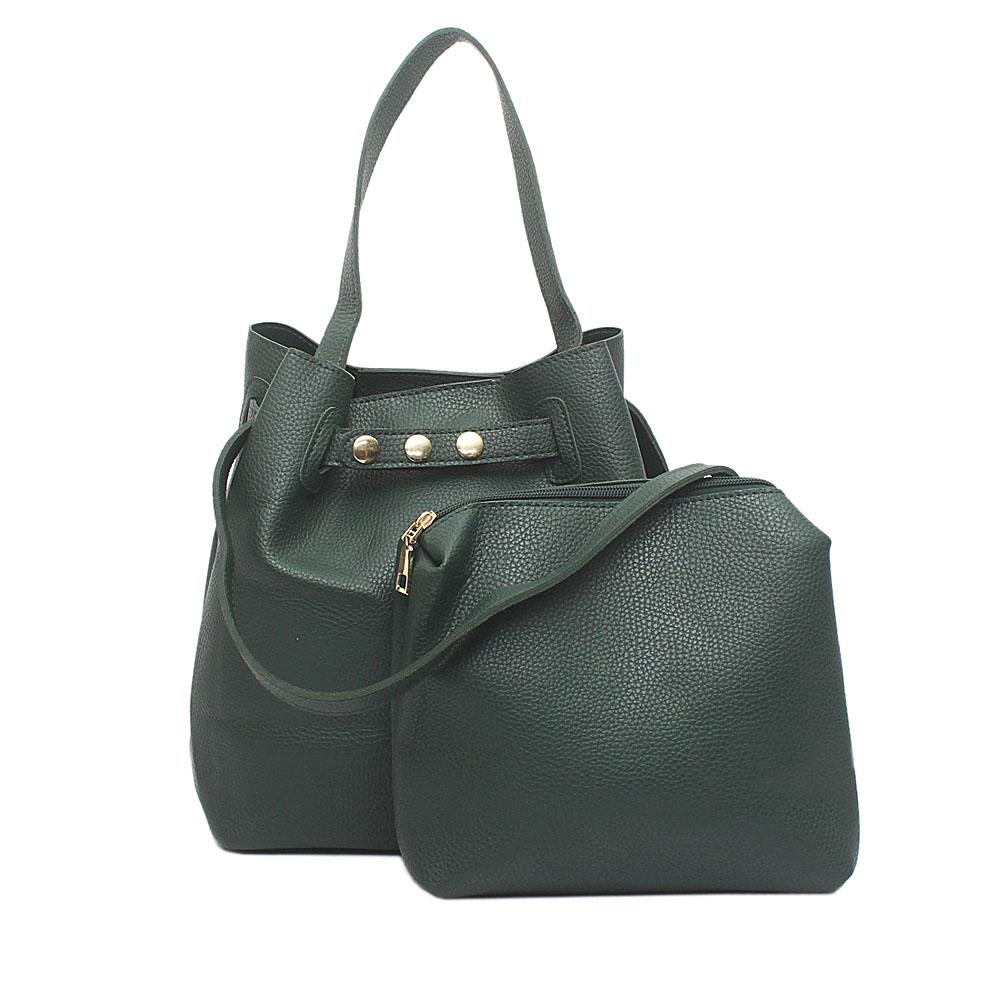 London Style Green Leather Handbag