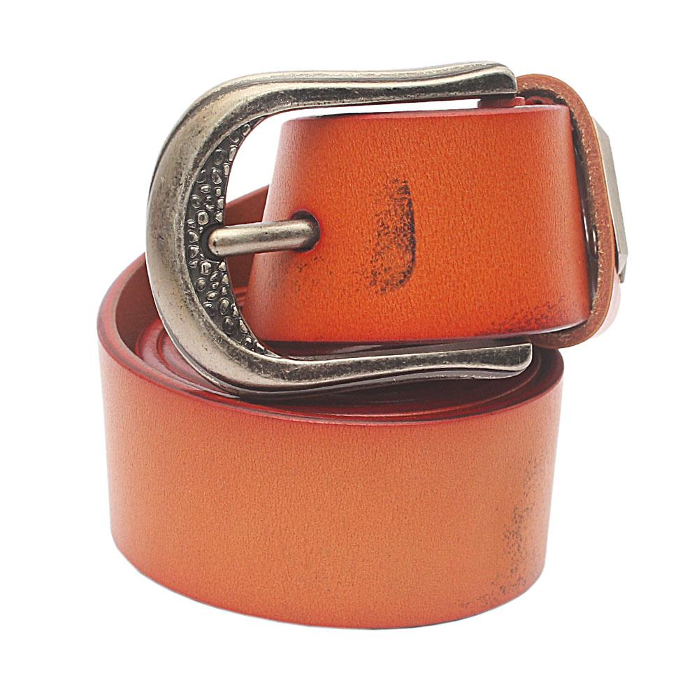 Brown Active Exotic Leather Belt L 48 Inches