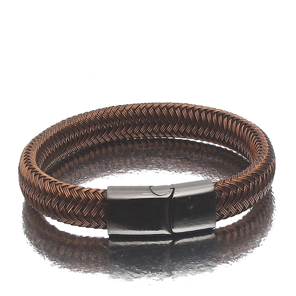Coffee Brown Twill Bracelet