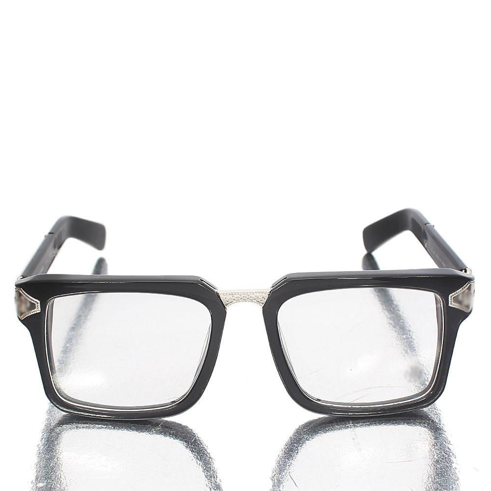 Silver Black Iron Man Wayfarer Clear Lens Glasses