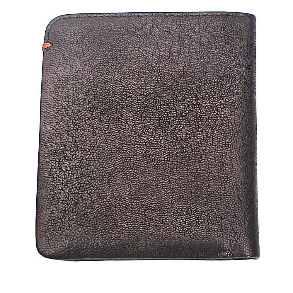 Black Plain Leather Wallet