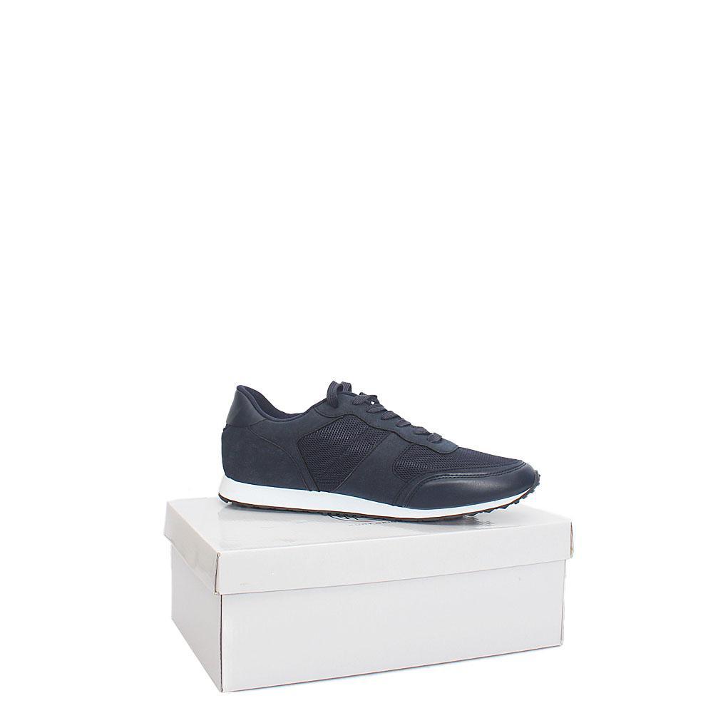 Kurt Geiger Warwick Navy Leather Comfort Fit Men Sneakers