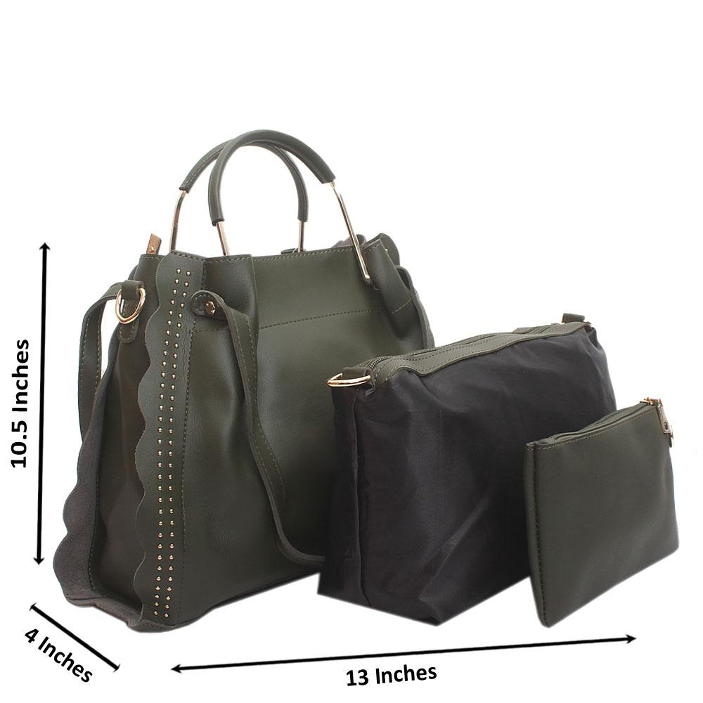 Green Eva Leather Handbag