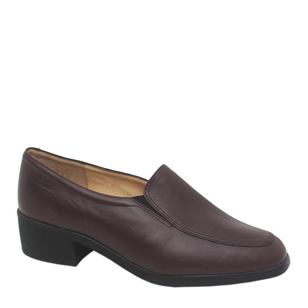 Clarks Brown Leather Ladies Shoe