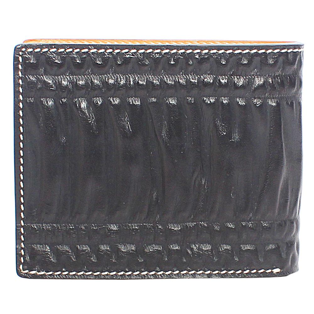 Black Croc Leather Wallet