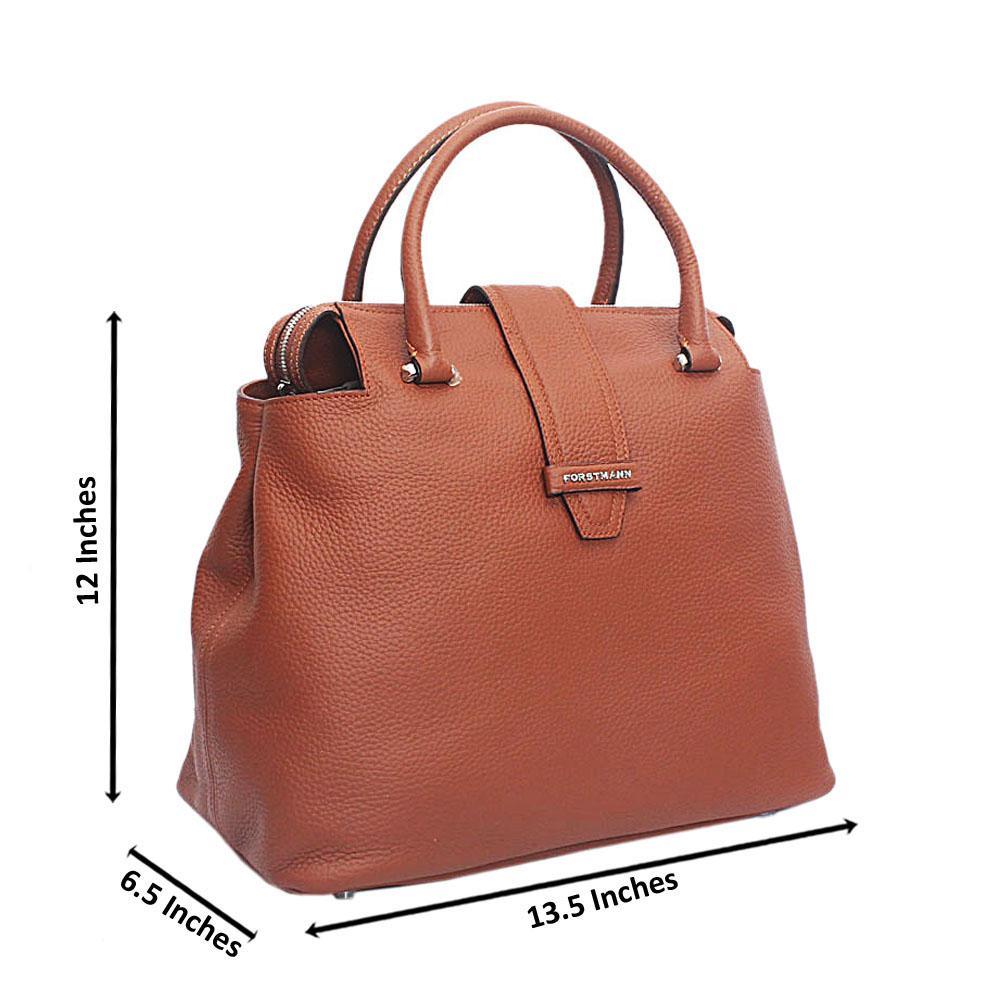 Forstmann Ophelia Brown Cow-Leather Tote Handbag