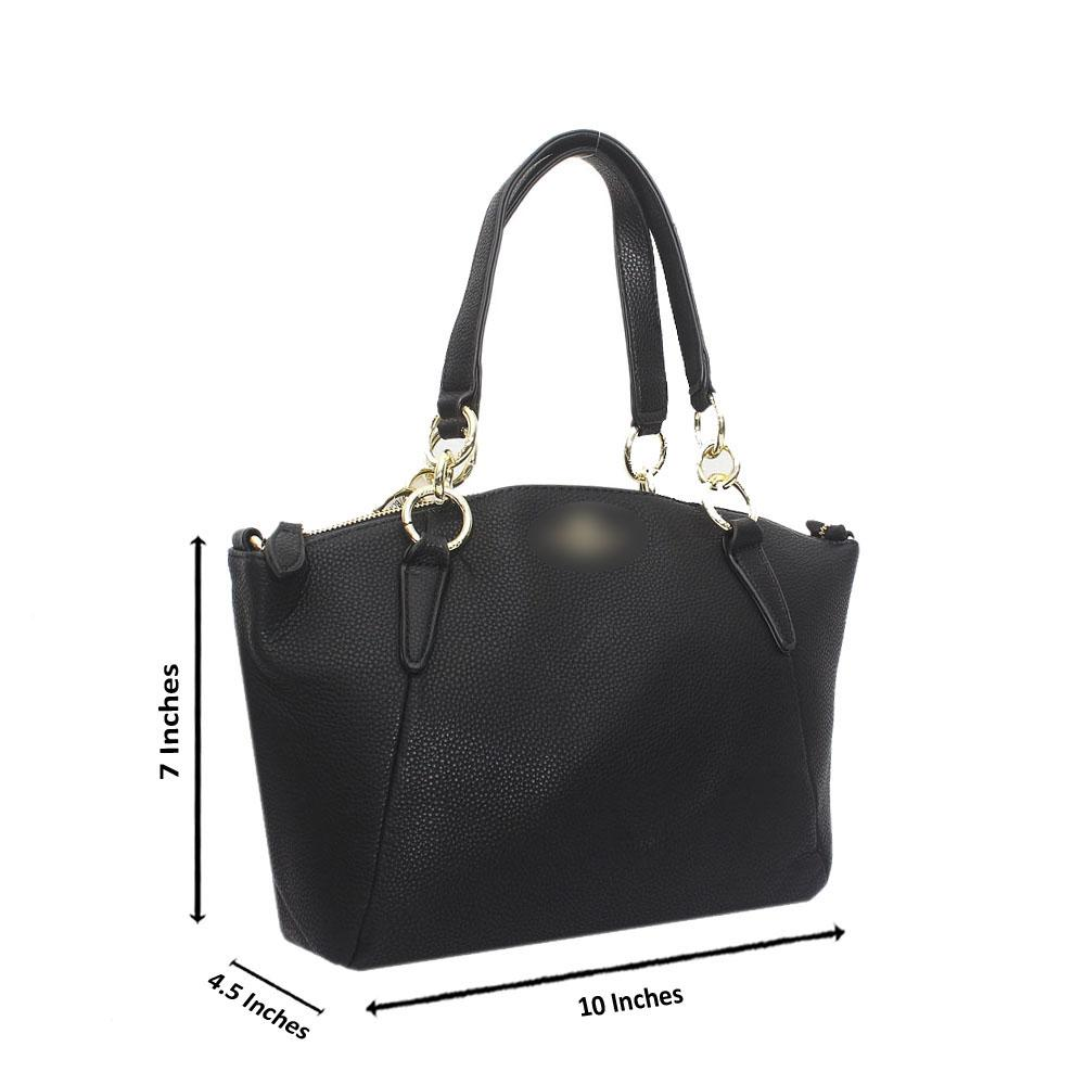 Black Leather Small Kelsey Bag