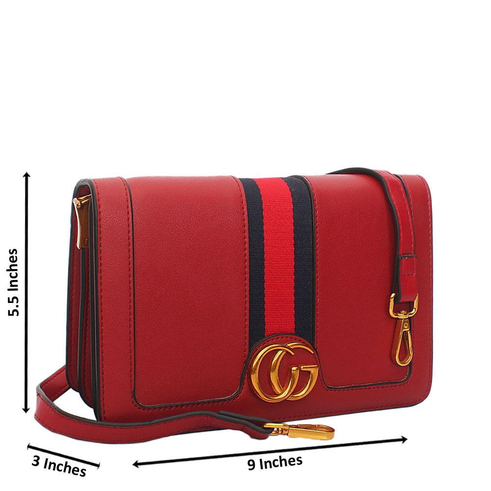 Wine Mariana Leather Crossbody Handbag