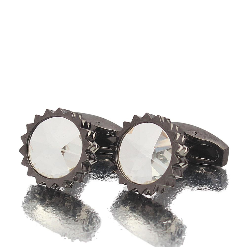 Black Precious Ice Stainless Steel Cufflinks
