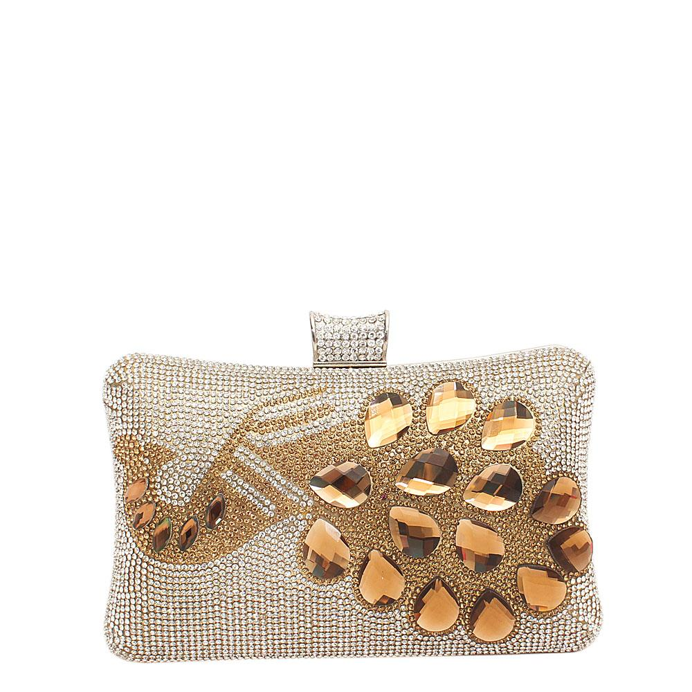Fashion Gold Studded Clutch Purse
