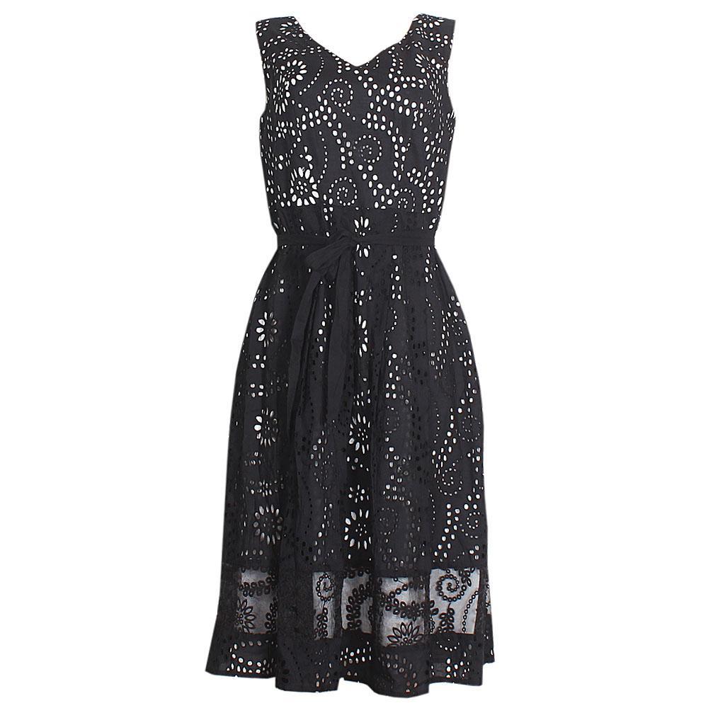 Per Una Black Sleeveless Cotton  Dress
