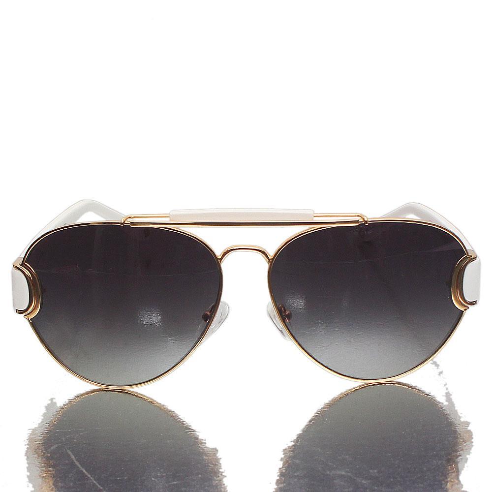 Gold Wite Aviator Dark Lens Sunglasses