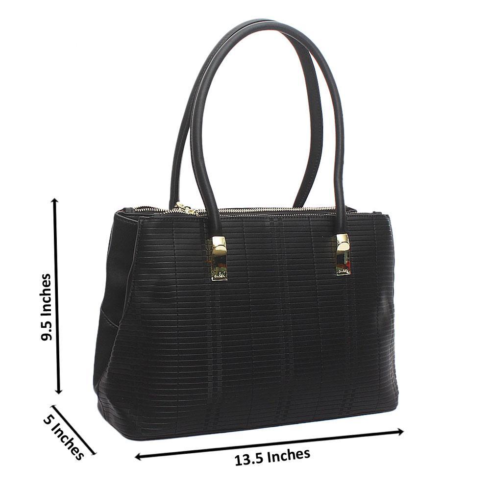 Susen Black Leather Handbag