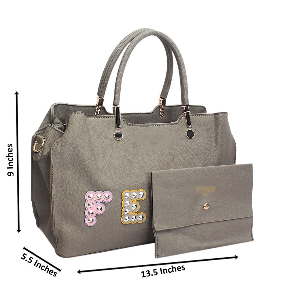 Grey Fenia Point Stud Tandy Leather Handbag