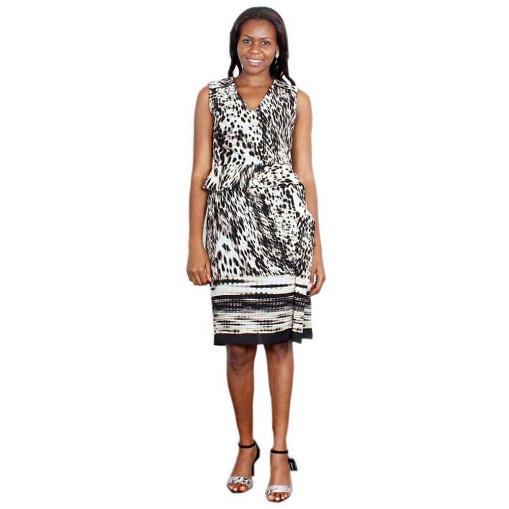 Per Una White/Black Ladies Dress-Uk10