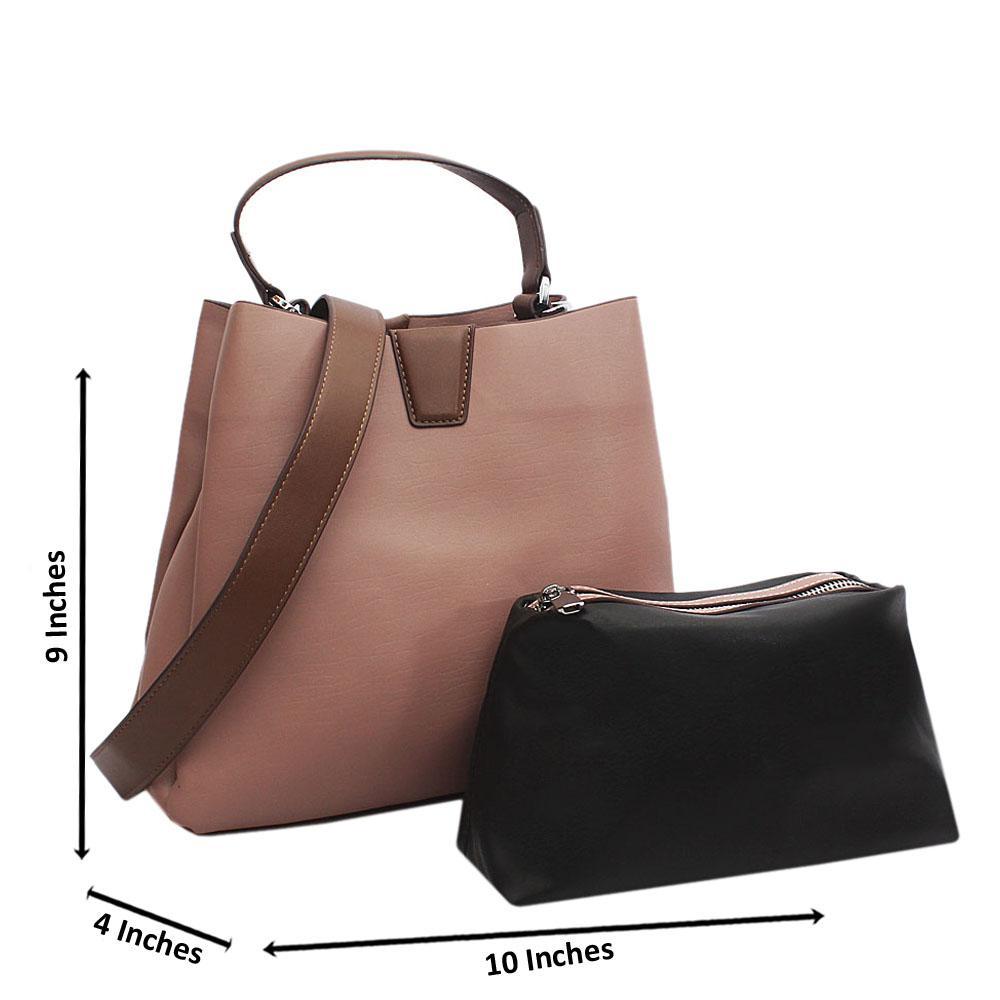 Lilac Bucket Style Small Tuscany Leather Top Handle Handbag