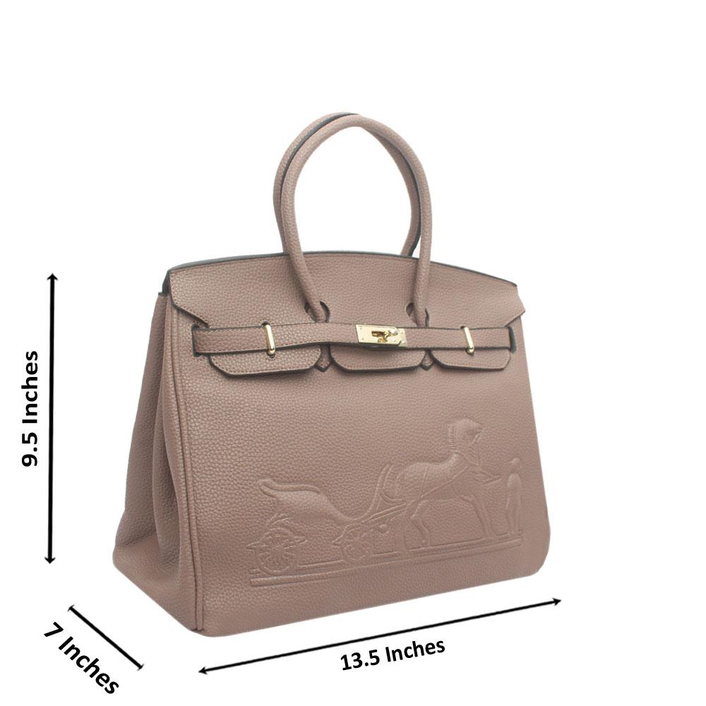 Khaki Leather Embossed Mate Birkin Bag