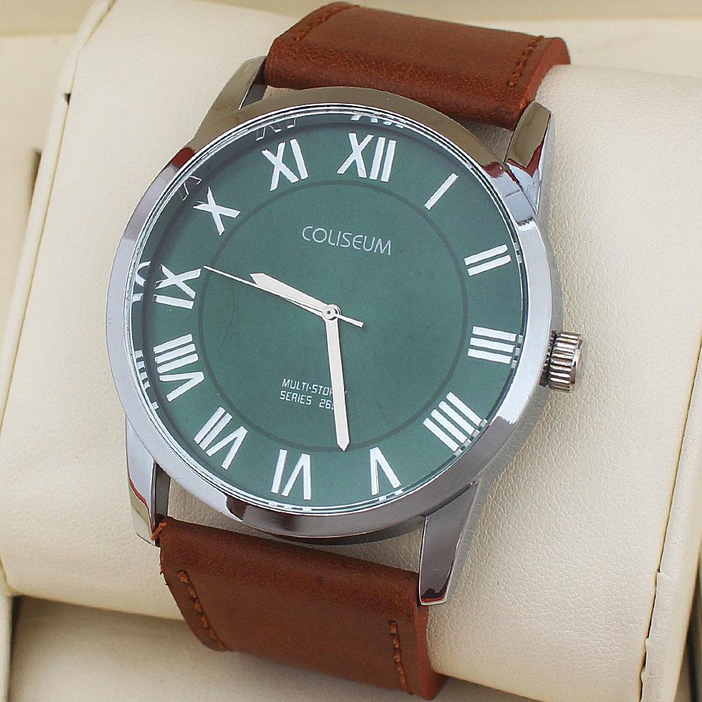 Coliseum Vintage 2652 Brown Leather Men's Fashion Watch-