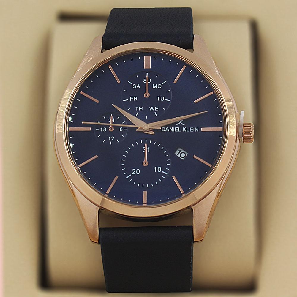 Daniel Klein Vintage Navy Leather Pilot Series Watch